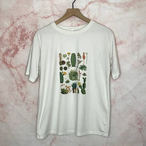 Plus Size Junior's Cactus Tee - 2XL